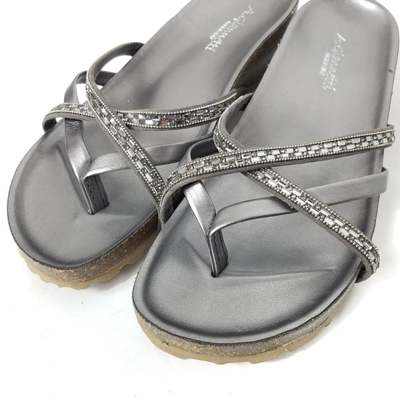 ee95636fedb9 A. Giannetti Shoes - A. Giannetti Silver Beaded Sandals 8.5